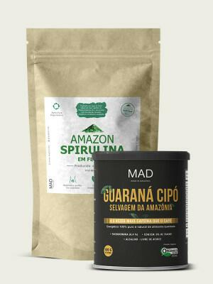Amazon Spirulina 225g + Guaraná Cipó 100g